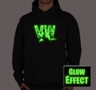 VW VOLKSWAGEN FINGER HÄNDE GLOW IN THE DARK HOODY Sweater T-Shirt Funshirt Partyshirt von SHIRTCHARTS