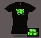 VW VOLKSWAGEN GLOW IN THE DARK T-Shirt Funshirt Fanshirt Partyshirt T-SHIRT GIRLIE GIRLY LADY SHIRT VON WIZUALS