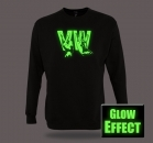 VW VOLKSWAGEN GLOW IN THE DARK Pullover Sweater T-Shirt Funshirt Partyshirt von SHIRTCHARTS